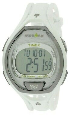 New Timex Ironman White+Gray 2 Tone,50 Lap,Resin Plastic,Indiglo,Watch Tw5M02900