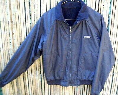 RARE Women's PATAGONIA (Small) Black REVERSIBLE Fleecy Lined Zip-up Jacket - AUS