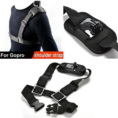 For GoPro Shoulder Chest Strap Mount Harness Belt Hero 3+ 4 Session Accessory !!
