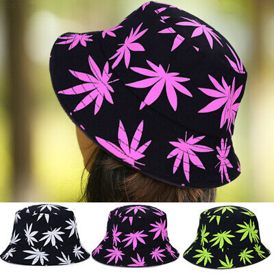 4183 3870 Cool Travel Fisherman Hat Sun Maple Leaf Cotton Bucket Hats