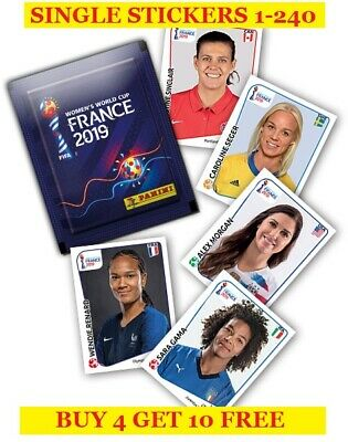Panini FIFA Women's World Cup France 2019 Single Stickers 1-240 - Buy4Get10Free