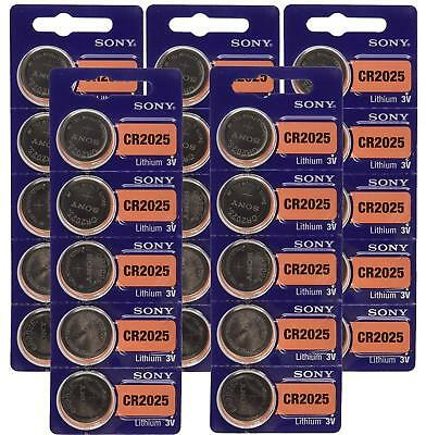 50PCS SONY CR2025 CR 2025 3V Lithium Coin Cell Batteries Exp 2027 Brand NEW