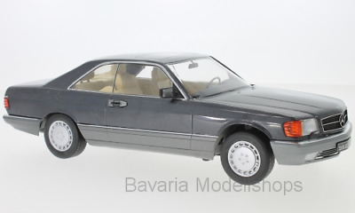 1:18 KK-Scale Mercedes 560 SEC (C126) - metallic-anthrazit - 1985 ***NEW***
