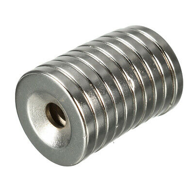 10st N35 20x3mm Versenkt Ring Magnets With 5mm Hole Strong Neodymium Disc