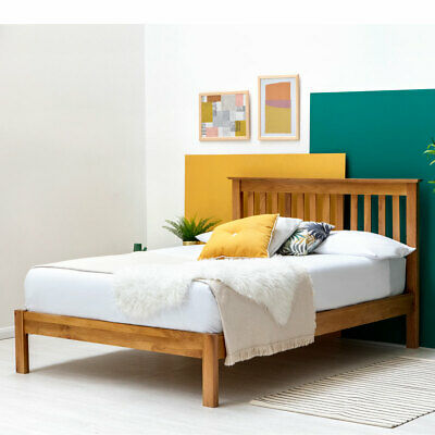 Farmhouse Shaker Style Solid Oak Wooden Bed Frame Double & King Size