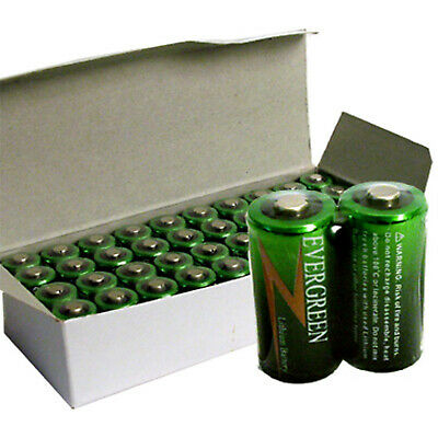 40pcs Evergreen CR123 2/3A Photo Lithium Battery Replaces DL123 EL123