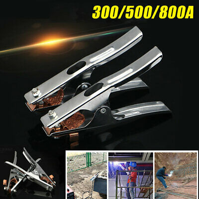300-800 Amp Ground Clamp Electrician Earth Metal Copper Welding Clip For Welder