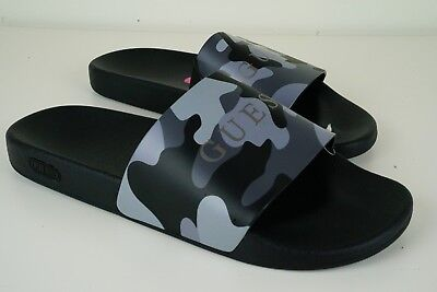 b117b8658c24c Guess Mens Size 12 Slide Sandals Slipper with Guess Logo Camouflage Color  Grey