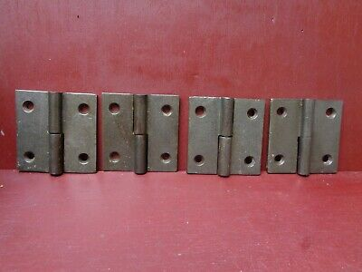 Antique 2 Left 2 Right Hand Cast Iron Lift Off Hinges Jelly Cupboard Door 2 1/2""