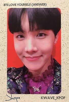 ✨Bts Love Yourself Answer Official Photo Card✨ Member Jhope (Photo Card Only)