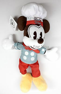 "NEW Disney 2016 EPCOT Food & Wine Festival Chef Mickey Mouse 12"" Plush Doll Toy"