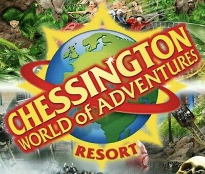 4 X Chessington World Of Adventures THEME PARK TICKETS for 26/6/19 Free Entry