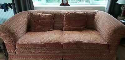 Chesterfield style Fabric Sofa 3 seater and matching chair