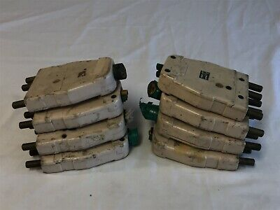 Lot of 8 m100 stage connectors 100A 125V