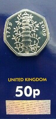 2019 Genuine UK Kew Gardens 50p Fifty Pence Coin Brilliant Uncirculated