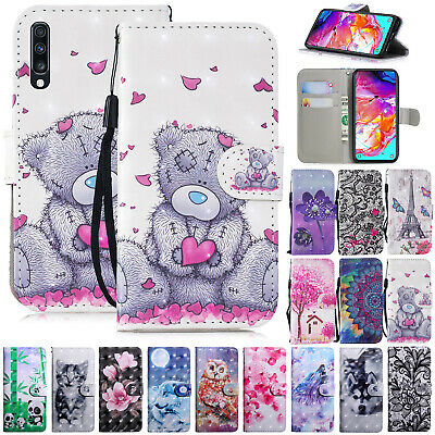 For Samsung A10 A30 A40 A50 A70 Phone Case Leather Stand Flip Folio Wallet Cover