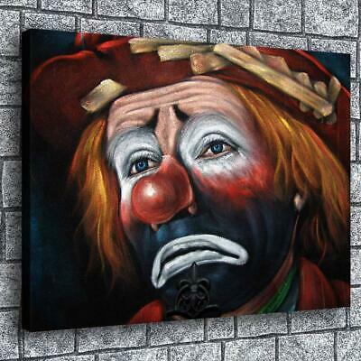"12""x16""Sad Clown HD Canvas prints Painting Home decor Picture  Wall art Poster"