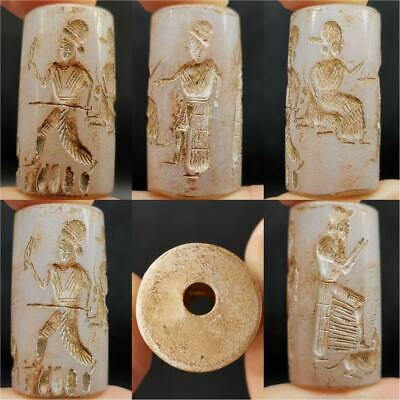 Emperors Ancient Agate seal intaglio King Seal intaglio Stone BEAD # 15