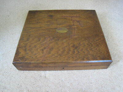 Large and strong vintage oak cutlery box, 42 places, top requires attention