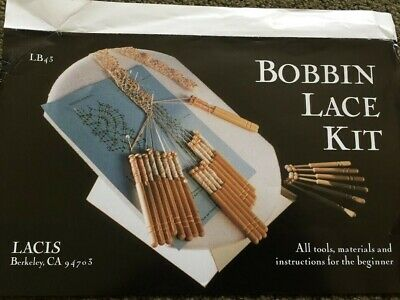 Lacis Bobbin Lace Kit Tools, Materials And Instructions  LB43 revised 2002 Kliot