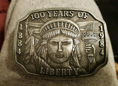 Vintage 1984 Statue Of Liberty 100 Years Anniversary Limited Edition Belt Buckle