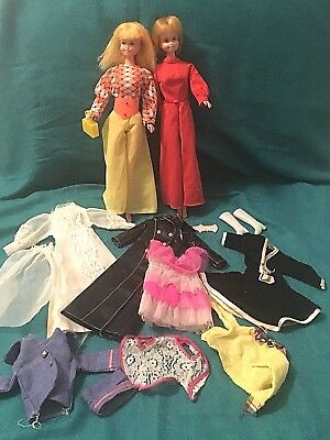 VTG LOT of 2 Maddie Mod Dolls & CLOTHES ~ MEGO & Princess Grace ~ Barbie Clones