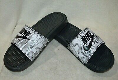 separation shoes 283c6 63e7b Nike Benassi JDI Print Anthracite Black Men s Slides Sandals - Size 10 NWB