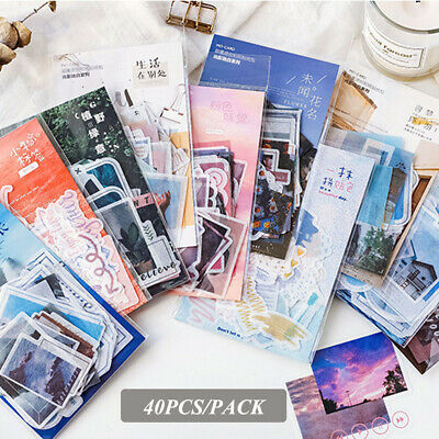 Shape Stationary Scrapbooking Phone Decor Stickers Paper Sticker Diary Label