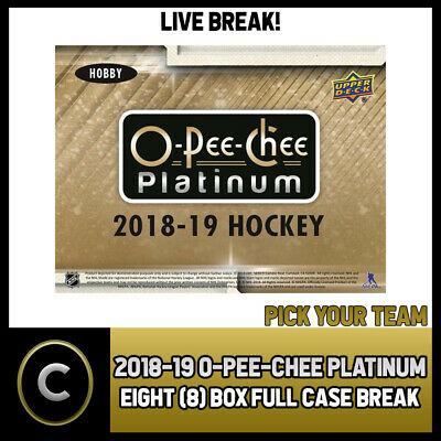 2018-19 O-Pee-Chee Platinum Hockey 8 Box (Case) Break #H363 - Pick Your Team -