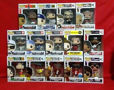 FUNKO POP! Variation Pops SPORTS LEGENDS/MOVIES/TELEVISION/ROCKS/NASCAR. *READ*
