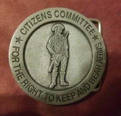 Citizens Committee For The Right To Keep And Bear Arms Belt Buckle 2nd Amendment