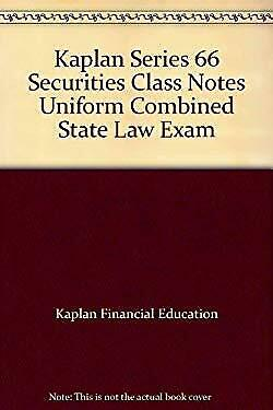 KAPLAN SERIES 66- Uniform Combined State Law Exam Book- 10th