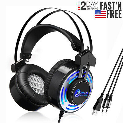 OMBAR K1 Gaming Headset Headphone With Microphone For PS4 Xbox one PC Laptop