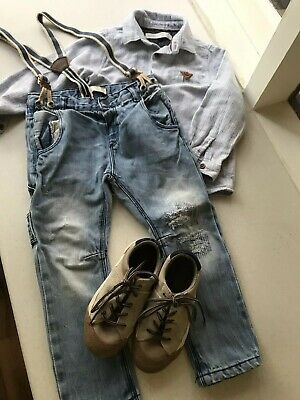 Boys Seed And Zara Size 3-4 Easter Bundle Bulk Clothing Jeans And Tops- 5 Items