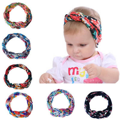 Baby Girls Kids Knot Headband Floral Hairband Twist Hair Band Toddler Head Band