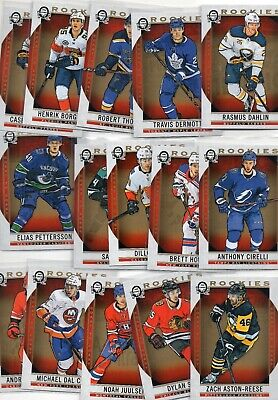 2018-19 OPC Coast to Coast Rookies 151-190 Complete Set