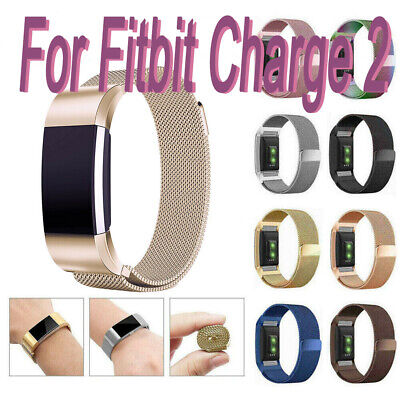 For Fitbit Charge 2 Watch Strap Wrist Band Milanese Stainless Steel Classic US