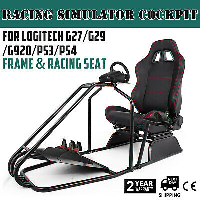 Racing Simulator Cockpit Wheel Stand Gaming Chair for Logitech G27 G920
