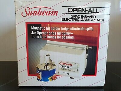 Electric can opener SPACE SAVER Under Bench OR WALL MOUNT Sunbeam
