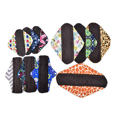 S/M/L/XL Small Panty Liners Charcoal Bamboo Reusable Cloth Mama Menstrual Pads~!