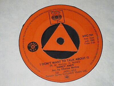 Nancy Ames, I Don't Want To Talk About It / Cry Softly Northern Soul Classic Vg+