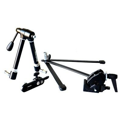Manfrotto 143 Magic Arm Kit Set from 143BKT, 035 Super Clamp 143N, 003MF Tripod