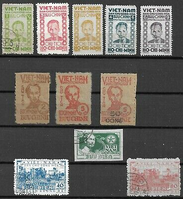 Viet Nam  North 1946-51 Issues Ho Chi Minh Time Includ 2 Services Pcs Very Fine