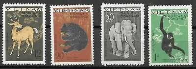 Viet Nam  North 1961 Thema Wild Animals  Issues  Yvert# 216-9  Mnh** Very Fine