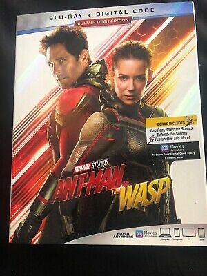 Ant-Man And The Wasp, Bluray Like New, (US), w/Slipcover, Region Free