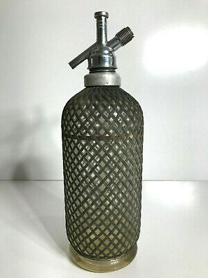 ANTIQUE 1930s SPARKLETS SODA SYPHON WIRE COVERED BOTTLE RARE! Good used cond