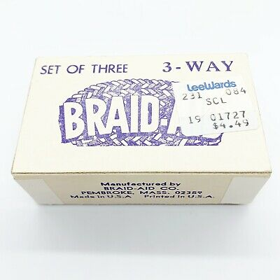 Set of Three Vintage Braid Aid 3-Way Tools in Original Box with Instructions