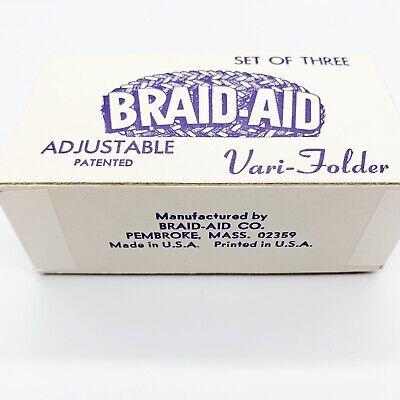 Vintage Braid-Aid Adjustable Vari-Folders Fabric Folders Rug Braiding Tools