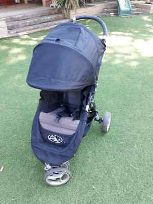 Black Single City Mini Stroller Baby Jogger Buggy Pushchair with Quick Fold