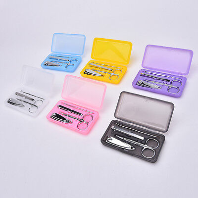 4X Professional Pedicure Manicure Set Nail Care Cuticle Clipper Tool Kit Case .